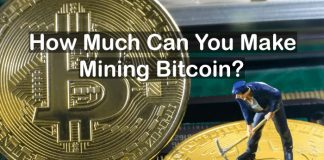 how much can you make mining bitcoin